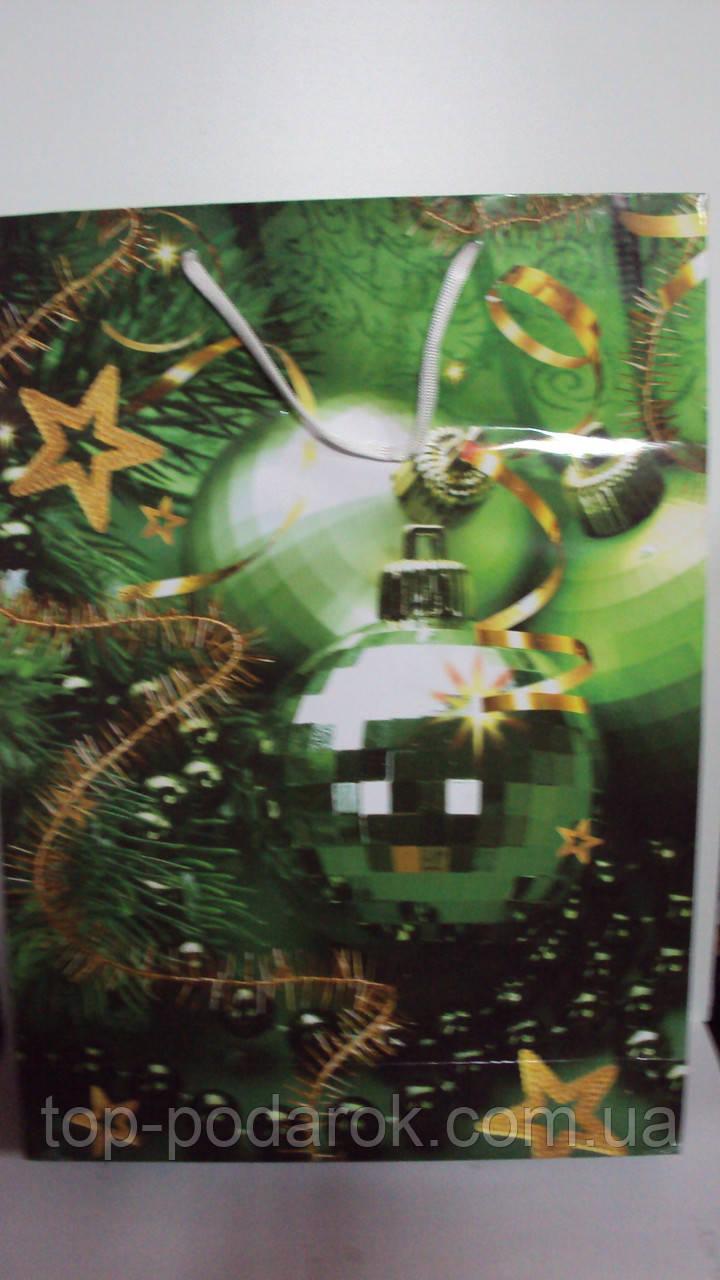 Пакет подарочный Новогодний 45*32*10
