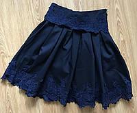 Школьная юбка для девочки синего цвета,школьная форма 2018