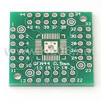 AP-Q05-44-48 Плата-переходник для корпусов QFN44 / QFN48, шаг 0.5 мм; размер 25x25мм
