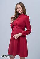 Классическое платье для беременных и кормящих REBECCA, кармин 1, фото 1