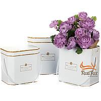 "Набор коробок для цветов ""Flowers for you"" белые 3 шт, фото 1"