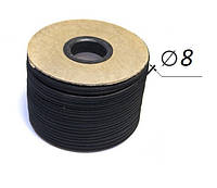 Эластичный шнур, резинка 8 мм (Польша) для тента на прицеп,фуру,грузовое авто,