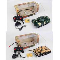 Танк радиоуправляемый, аккумуляторный, 25см, звук, свет, 2 вида, AKX520CD