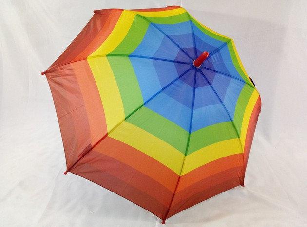 """Детский зонтик """"Радуга"""" на 8 спиц со свистком"""