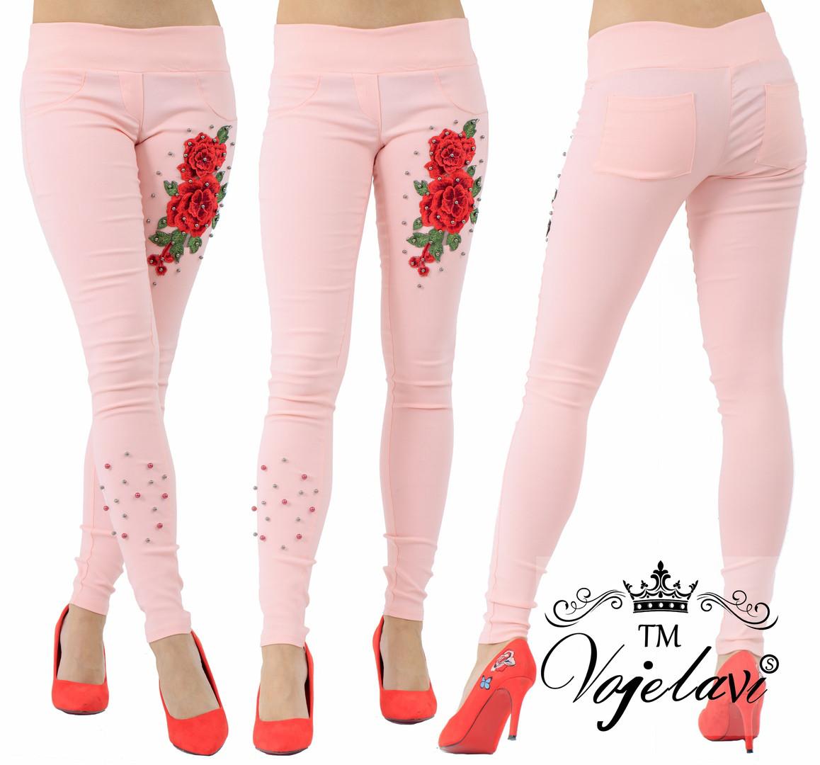 4152047e0702e Лосины женские стрйч-джинс с вышивкой и жемчугом : продажа, цена в ...