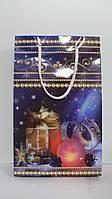 Пакет подарочный Новогодний размер 27*17*7