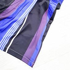 Шорты полосатые сине-фиолетовые-511-618-3, фото 3