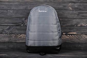 Спортивный рюкзак Supreme серого цвета (люкс копия)