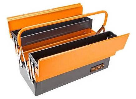 Neo Tools 84-100 Ящик для инструмента, металлический, 455 мм, фото 2