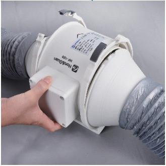 Закрепите корпус вентилятора