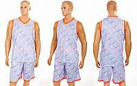 Форма баскетбольная мужская Camo (PL, р-р L-5XL 160-190, серый), фото 1