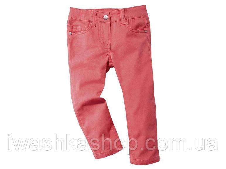 Коралловые джинсы slim на девочку 2 - 3 года, размер 98, Lupilu