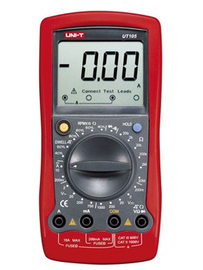 Цифровой автомобильный мультиметр UNI-T UT105 (UTM 105)