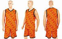 Форма баскетбольная мужская Camo (PL, р-р L--5XL 160-190, оранжевый), фото 1