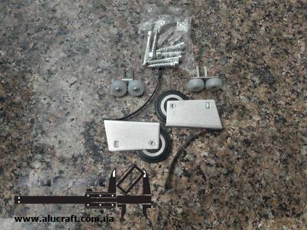 Ролики для дверей шкафа купе   Симметричный для закрытой формы ручки, фото 2