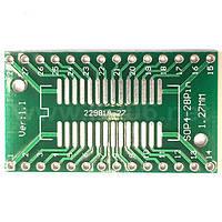AP-SO-SSOP-28 Плата-переходник для корпусов SO28 / SSOP28; размер 36x21мм