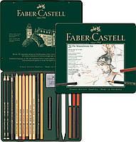Специальный художественный набор Faber-Castell PITT MONOCHROME из 21 предмета в мет. коробке, 112976