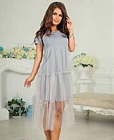 Платье нарядное серого цвета  от YuLiYa Chumachenko, фото 1