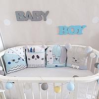 Комплект детского постельного белья Chudiki голубой
