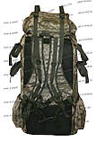 Туристический экпедиционный большой крепкий рюкзак на 90 литров пиксель, фото 4