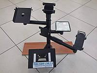 Стойка с верхним, боковым креплением дисплея, держателем принтера, терминала, монетницы и клавиатуры