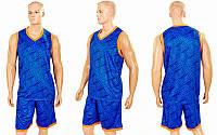 Форма баскетбольная мужская Camo (PL, р-р L-5XL-160-190, синий), фото 1
