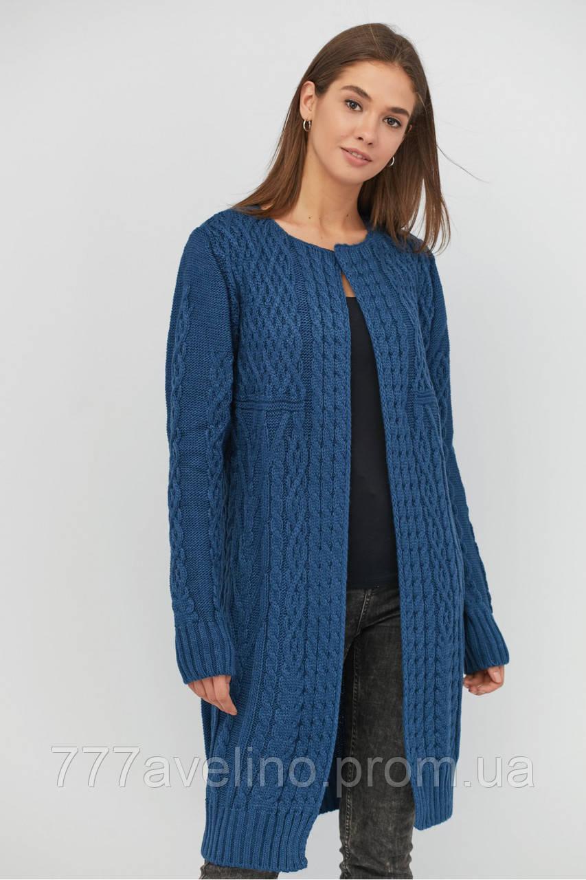 кардиган женский вязаный стильный шерстяной размеры 46 56 купить в харькове