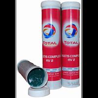 Смазка Total Multis Complex HV-2 зелёная высокотемпературная смазка высокого давления 400мл.