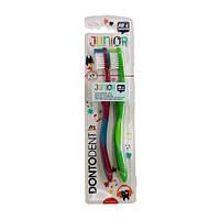 Щетка зубная DM DontoDent Junior для детей от 6 лет 2шт.