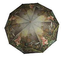 Женский качественный прочный зонтик полуавтомат MAX KOMFORT art. 3051 цветочный (102889), фото 1