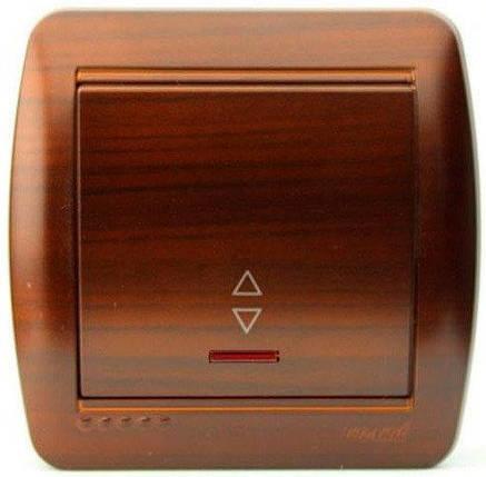 Lezard Demet Выключатель с подсветкой проходной Античный Кедр, фото 2