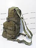 Тактический, штурмовой рюкзак с отсеком под гидратор олива, фото 3