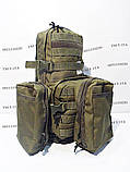Тактический, штурмовой рюкзак с отсеком под гидратор олива, фото 9