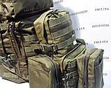 Тактический, штурмовой рюкзак с отсеком под гидратор олива, фото 10