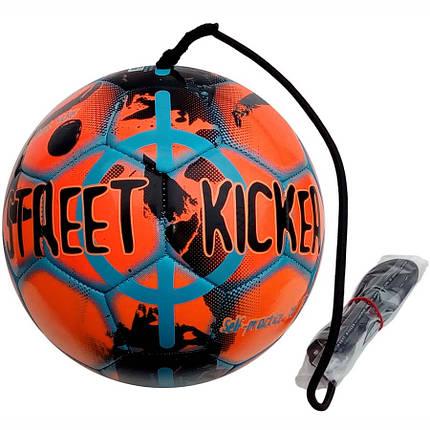 Мяч футбольный SELECT Street Kicker оранж/черный, р.4, фото 2