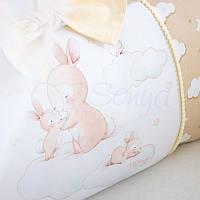 Комплект детского постельного белья Akvarel бежевые зайки