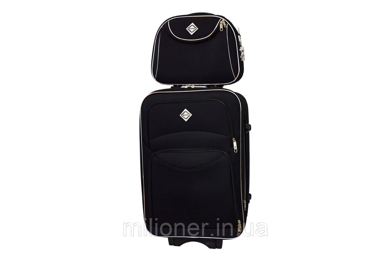 Комплект чемодан + кейс Bonro Style (большой) черный