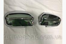 Хром накладки на дзеркала (2 шт., пласт.) Honda Civic Sedan VII 2001-2006 (Хонда Сівік )