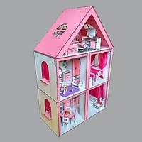 """Крашеный кукольный домик """"Большой Особняк Барби"""" с мебелью, обоями, текстилем и шторками, фото 1"""