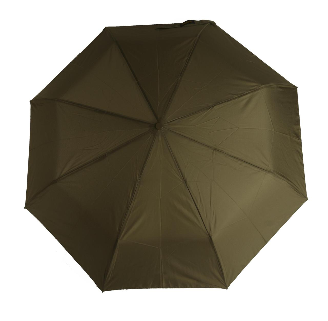 Женский симпатичный однотонный прочный зонтик автомат SUSINO art. 53002 темно оливковый (102894)