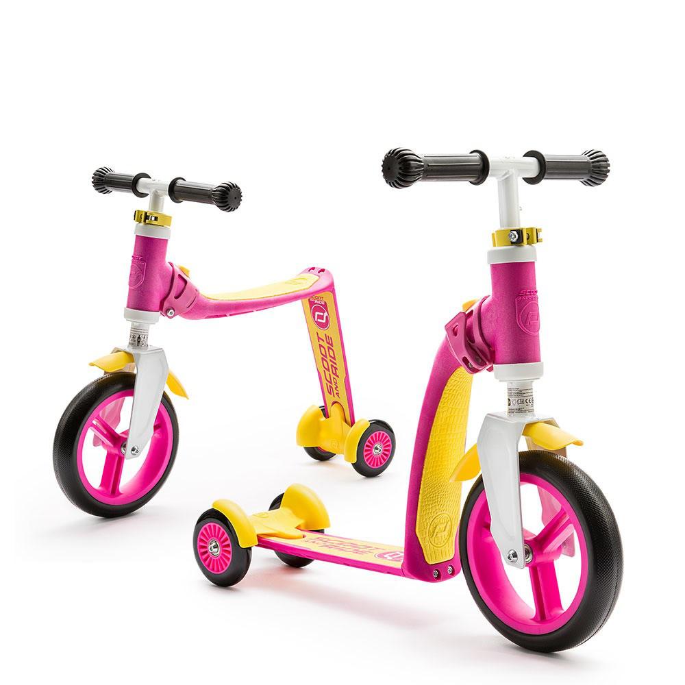 Самокат Scoot&Ride серии Highwaybaby+ розово-желтый, до 3 лет/20 кг (SR-216272-PINK-YELLOW)