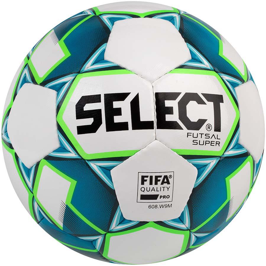М'яч футзальний Select Futsal Super FIFA, біло-синій, р. 4, ламінований, низький відскік