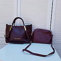 """Брендовая женская сумка """"MK """" с косметичкой (два цвета)"""