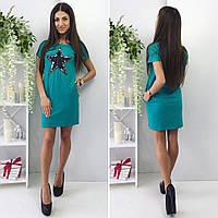 "Платье зеленого цвета с нашивкой ""Звезда"" от YuLiYa Chumachenko, фото 1"