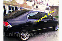 Хром нижня окантовка вікон Honda Civic Sedan VIII 2006-2011 (Хонда Сівік )