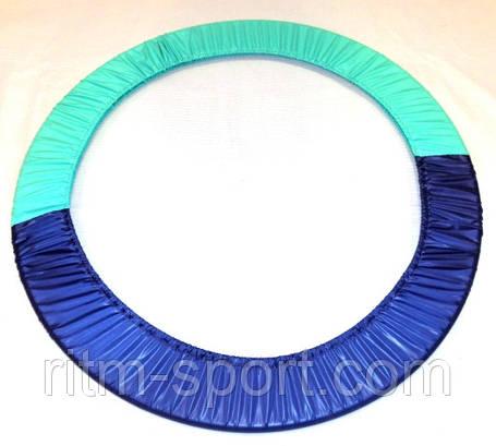Чехол на обруч от 55 см до 90 см двухцветный (фиолетовый/мятный), фото 2
