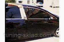 Хром молдинг дверних стійок Honda Civic Sedan VIII 2006-2011 (Хонда Сівік )