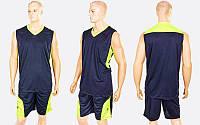 Форма баскетбольная мужская Star (PL, р-р XL-5XL, рост 165-190, черный-салатовый), фото 1