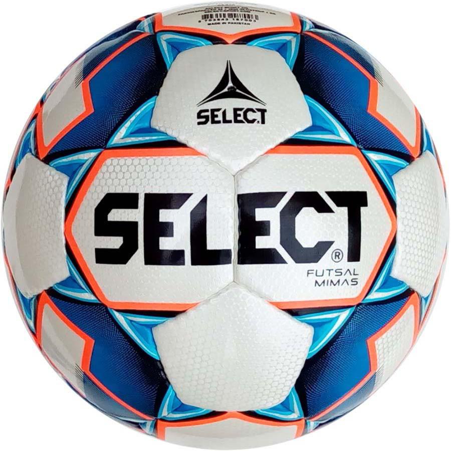 Мяч футзальный Select Futsal Mimas IMS, бело-синий, р. 4, ламинированный, низкий отскок