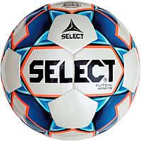 Мяч футзальный Select Futsal Mimas IMS, бело-синий, р. 4, ламинированный, низкий отскок, фото 1